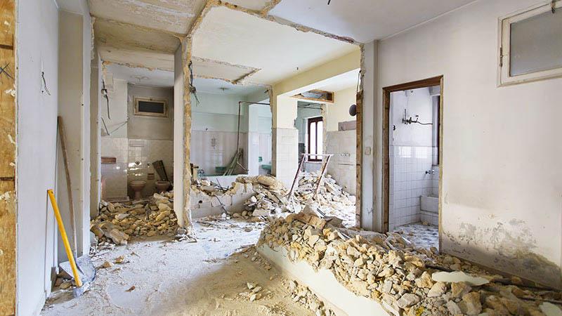 Bau Entkernung Haus Stuttgart